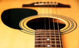 Guitar. Photograph of an acoustic guitar Stock Images