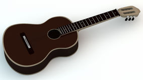 Guitar. Acoustic isolated on a white backgroud Stock Illustration