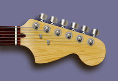 Guitar. Detailed computer illustration of guitar headstock Stock Photos