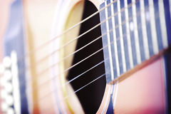 Guitar. Close up on a classic guitar Royalty Free Stock Image