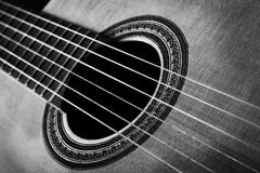 The guitar. Conceptual picture of music and instruments Stock Images