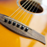Guitar. Close-up of guitar with cool strings Stock Image