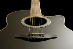 Guitar. 3d body and strings of a guitar Royalty Free Stock Image