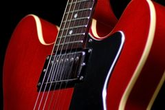 Guitar 3/4. 3/4 view of electric guitar Stock Photo
