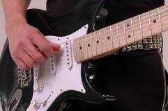 Guitar. Close up of an electric guitar Royalty Free Stock Image