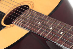 Guitar. Acoustic classic music string close up Stock Photo