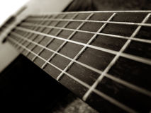 Guitar. A guitar is a stringed musical instrument royalty free stock photo