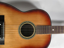 Guitar. Beautiful classical guitar instrument Royalty Free Stock Image