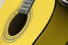 Guitar. Yellow guitar Royalty Free Stock Image