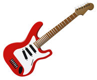 Guitar. A Fender stratocaster guitar . The jpg file is isolated by Clipping Path, for an easy use Royalty Free Stock Image