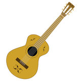 Guitar. Illustration of a classic brown guitar Royalty Free Stock Photos