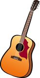 Guitar. A digital illustration of a guitar Royalty Free Stock Image