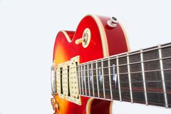 Guitar 8. Guitar Cherry burst color. red & yellow Royalty Free Stock Images