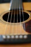 Guitar. Acoustic guitar closeup Stock Photo