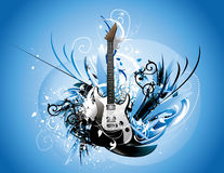 Guitar abstract Royalty Free Stock Image