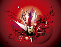 Guitar abstract Stock Images