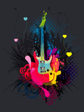 Guitar abstract Stock Image