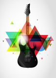 Guitar on abstract background. Electric guitar on abstract colorful background Stock Photo