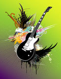 Guitar abstract illustration Royalty Free Stock Photography