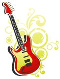 Guitar with abstract pattern Stock Photography