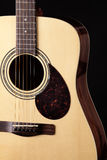 Guitar Acoustic Close Isolated Black Royalty Free Stock Photography