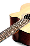 Guitar acoustic closup isolated Royalty Free Stock Photography