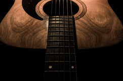 Guitar acoustic, ideal use for background. An idea for inspiration with low light Stock Image