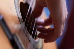 Guitar. Acoustic guitar, instrument,  close up Stock Photo