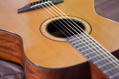 Guitar. Acoustic guitar. Perfect for musical Bossa or soft music Royalty Free Stock Photo