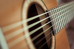 Guitar. Acoustic guitar. Perfect for musical Bossa or soft music Royalty Free Stock Photos