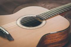 Guitar. Acoustic guitar. Perfect for musical Bossa or soft music Stock Images