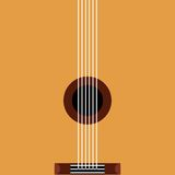 Guitar acoustic pop art style. Vector illustration design Stock Photo