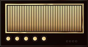 Guitar amp. Editable retro guitar amp background stock illustration
