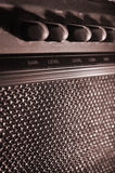 Guitar Amp. Small guitar amplifier from a rock band Stock Image