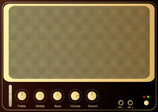 Guitar Amp. Editable vector retro guitar amp background stock illustration