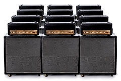 Guitar Amp Group Royalty Free Stock Images