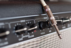 Guitar amp and jack Stock Image