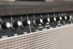 Guitar amp and jack Royalty Free Stock Images