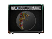 Guitar amp paintings. Guitar Amp with white background. Illustrate general Stock Images