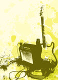 Guitar and ampli Royalty Free Stock Photo