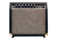 Guitar amplifier. Isolated on white background Stock Photos