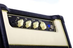 Guitar amplifier Stock Photo