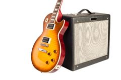 Guitar and amplifier Stock Photos