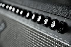 Guitar amplifier. Close up image of guitar amplifier royalty free stock photos