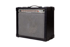 Guitar amplifier. On white background royalty free stock photography