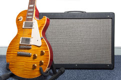 Guitar and amplifier Stock Image