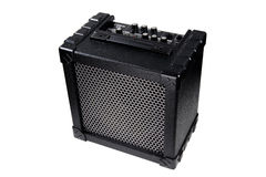 Guitar amplifier. On white background photographed in studio Royalty Free Stock Photography