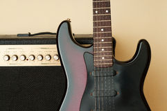 Guitar and amplifier Royalty Free Stock Photo