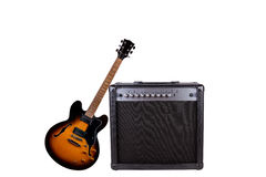 Guitar and an Amplifier Stock Photography