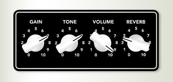 Guitar Amplifier Chicken Head Knobs  Stock Photos